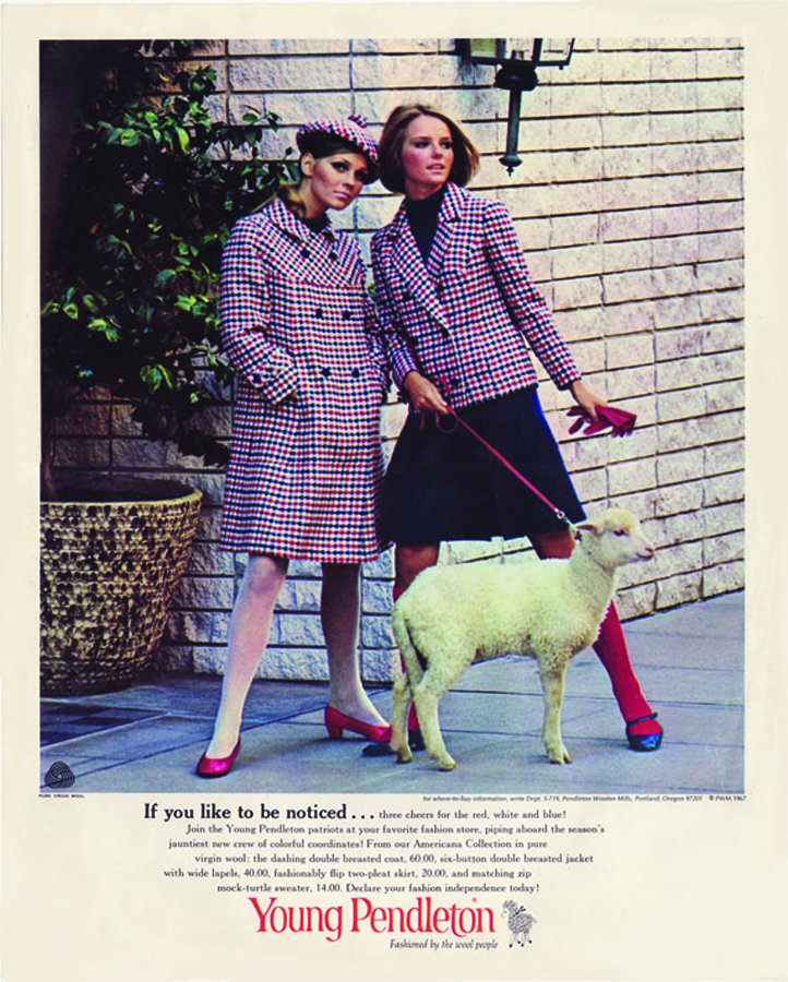 1967 Pendleton ad with Cheryl Tiegs on right