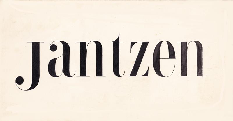 Jantzen hand-drawn prototype by Tom Lincoln with Doug Lynch.