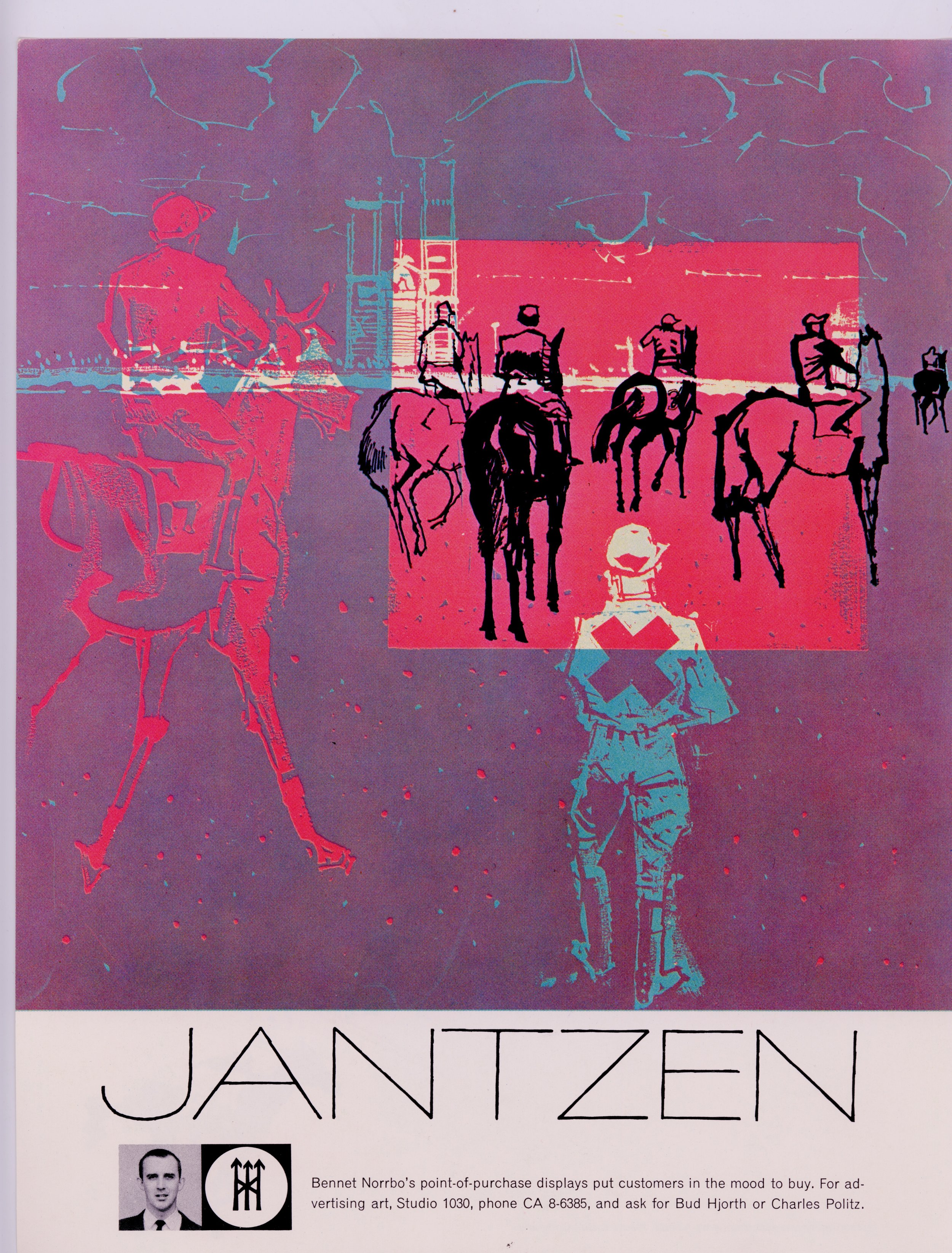 Promo sheet for Bennet Norrbo, showcasing his work for Jantzen.