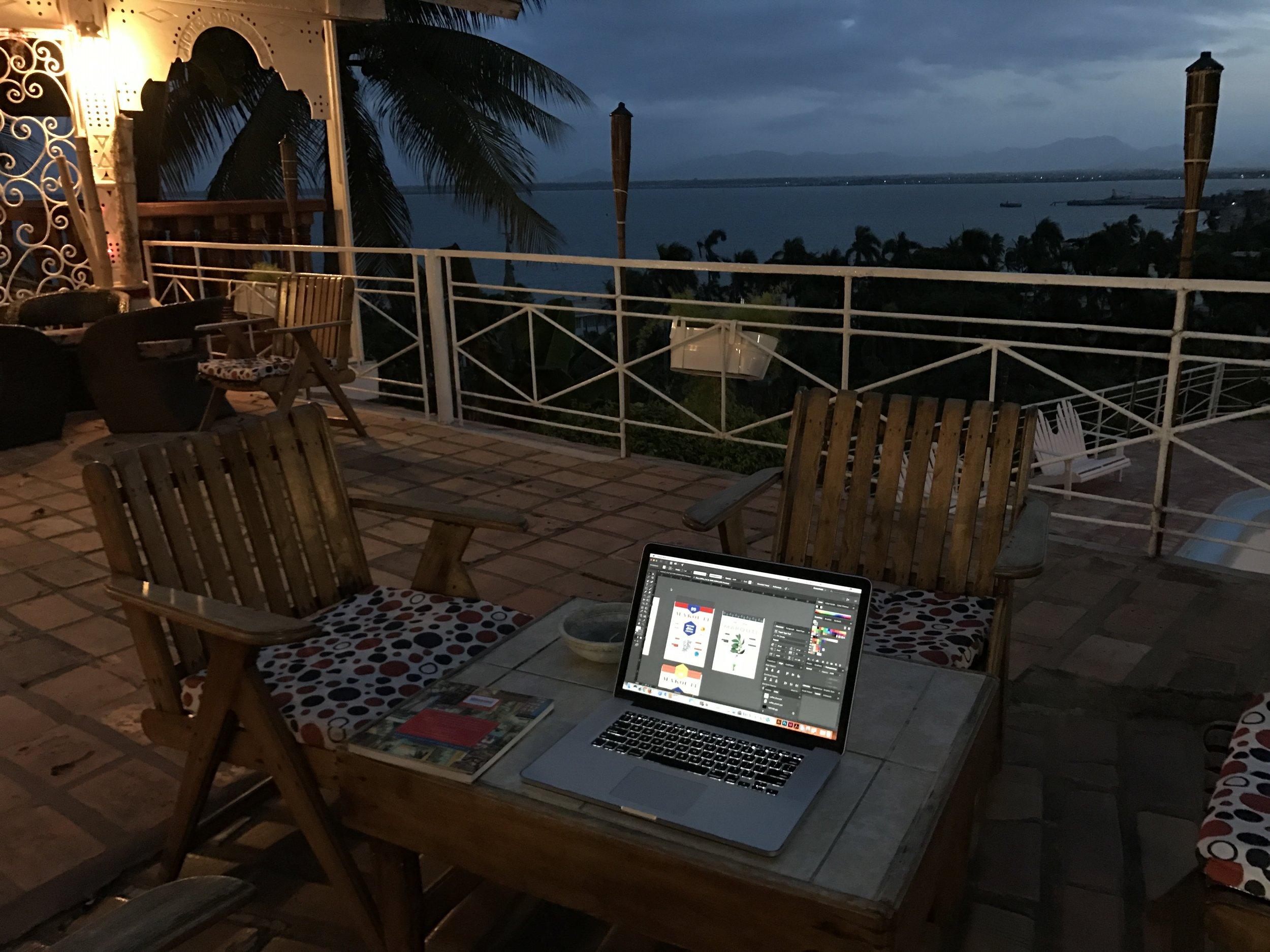 My office at Hotel Mont Joli, Cap-Haïtien