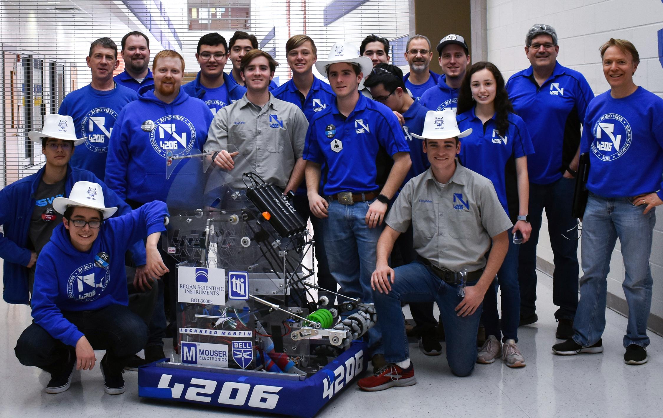 """RoboVikes Team 4206 - Success at """"FIRST Robotics"""" contest"""