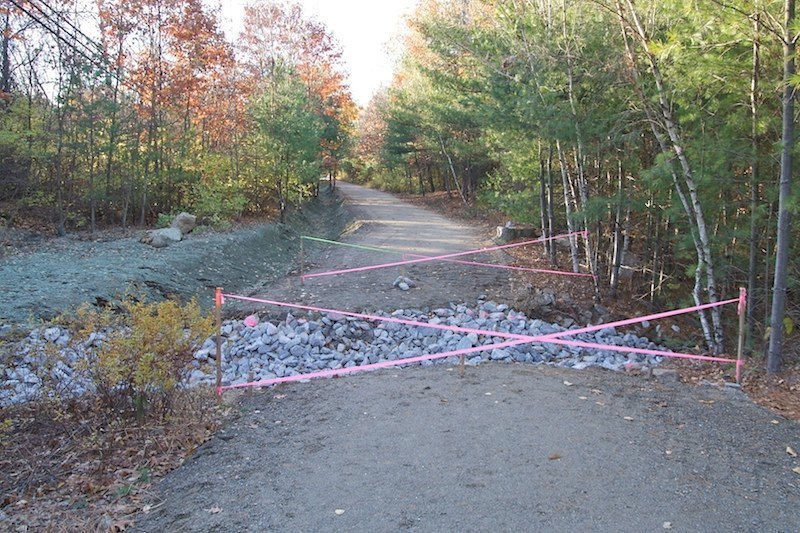 The site awaits a bridge