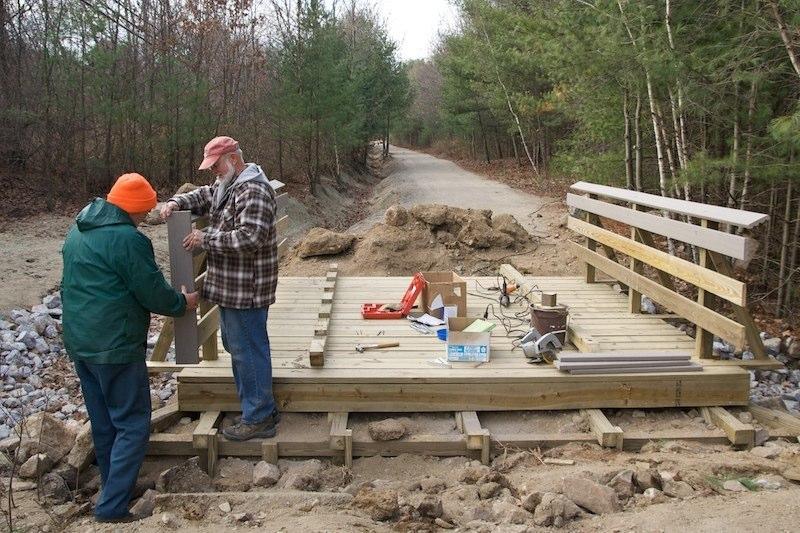 Constructing the railings