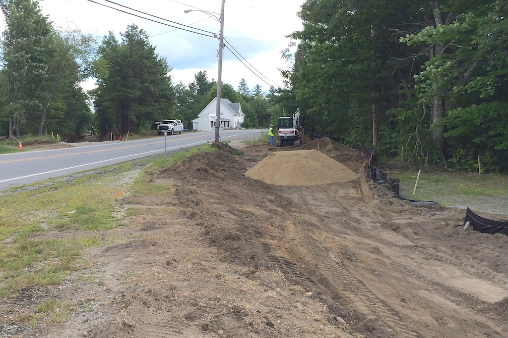Beginning realignment work of eastern Mast Road crossing