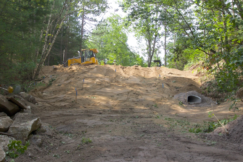 Filling the gully at former Henry Bridge Road