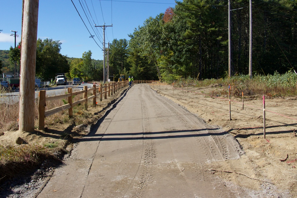 New gravel surface near the realigned western Mast Road crossing