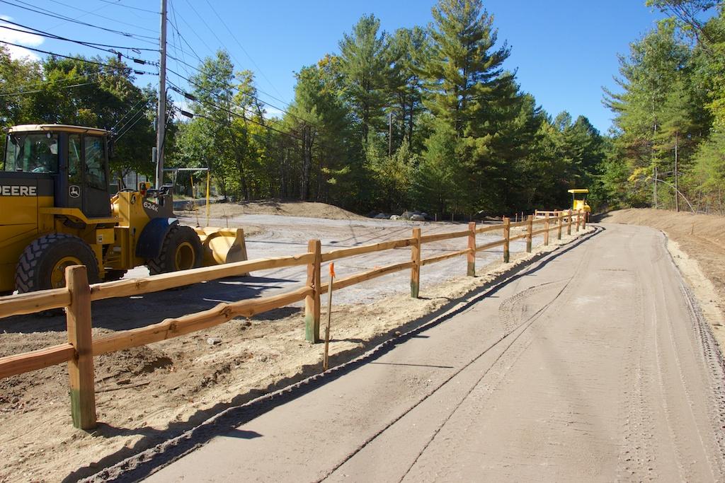 New trail segment passing the new trailhead parking area