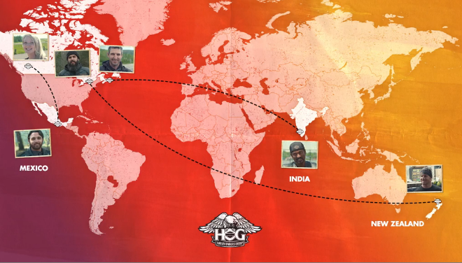 Harley-Davidson invited riders from around the globe creating a