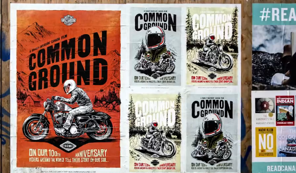 Posters Created to mark Harley-Davidson's 100th Anniversary -