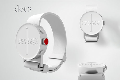 """DOT - The first Braille Smartwatch"" Smartwatch technology that will change the lives of millions of blind and vision impaired.    Click for Video Ad"