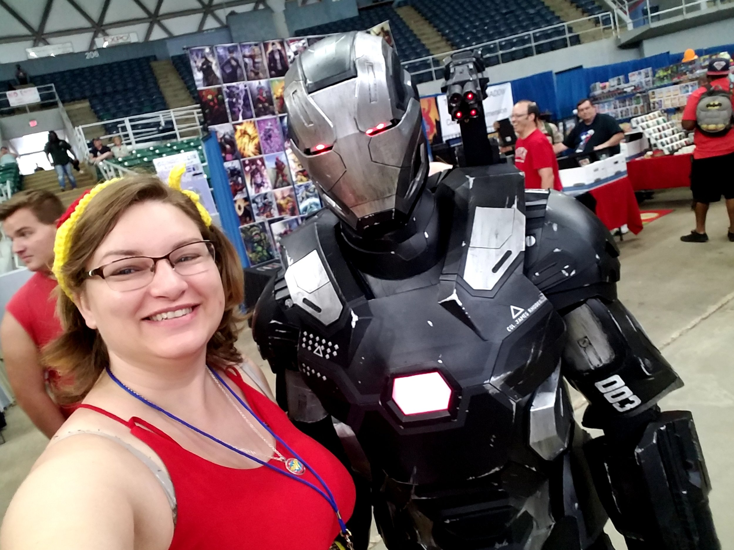 War Machine! I left the table to go get a photo with him.