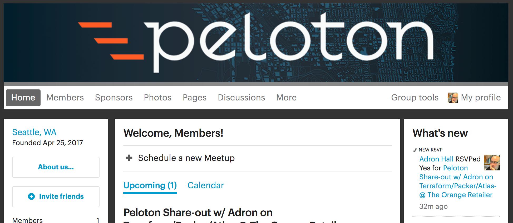 Pelo.Tech Meetup Site