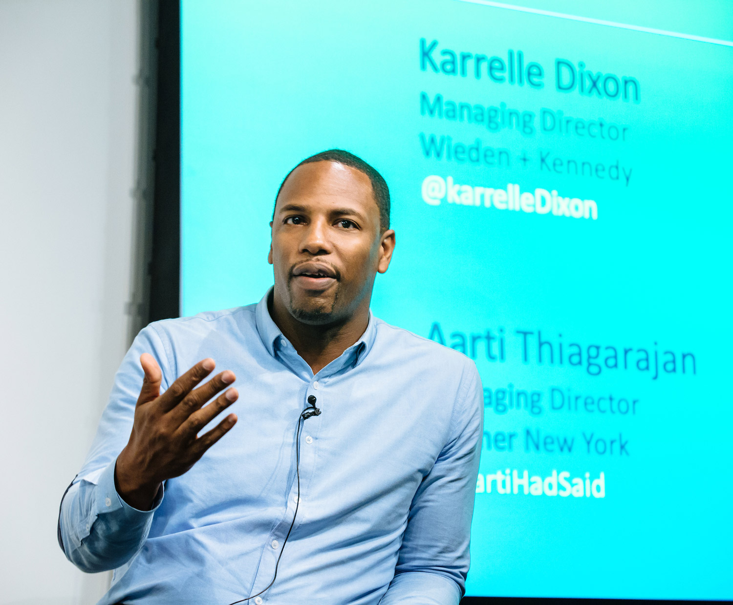 """Karrelle Dixon, Managing Director, Wieden + Kennedy: """"I take stock every year: Is this a place I still want to be?"""" -"""