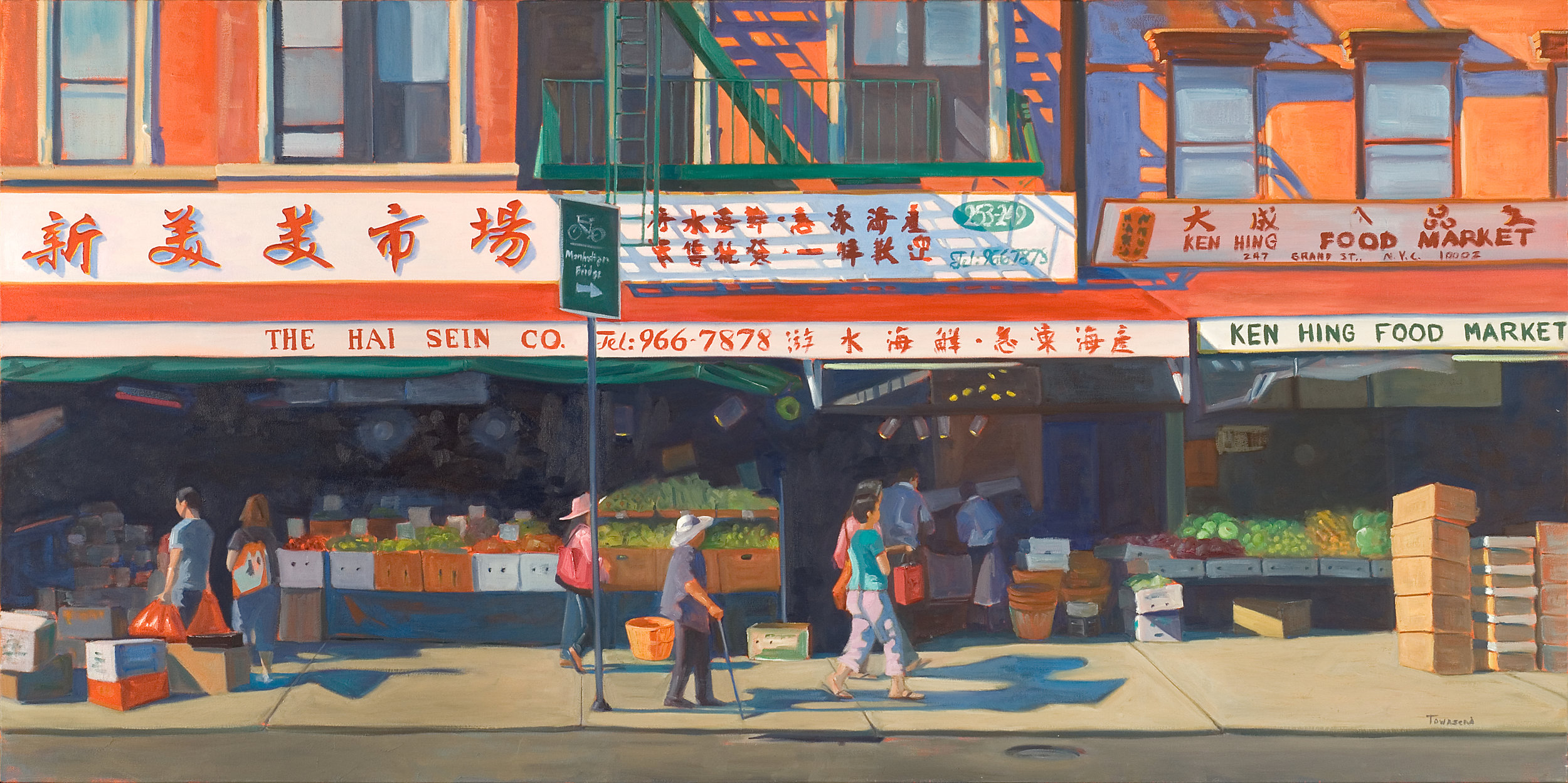 Chinatown | 36 x 72 Inches | Oil on Canvas