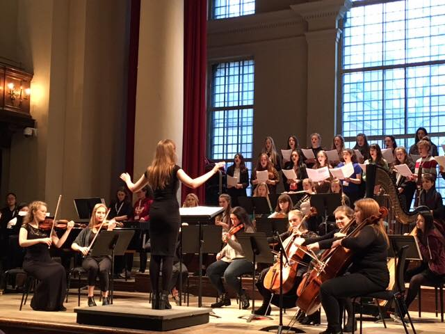 Grace-Evangeline Mason conducts GDST Commission, St Johns Smith Square 2016