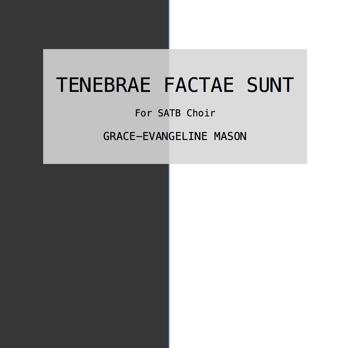 TENEBRAE FACTAE SUNT (2018)