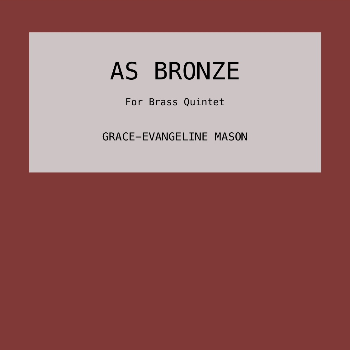 AS BRONZE (2018)