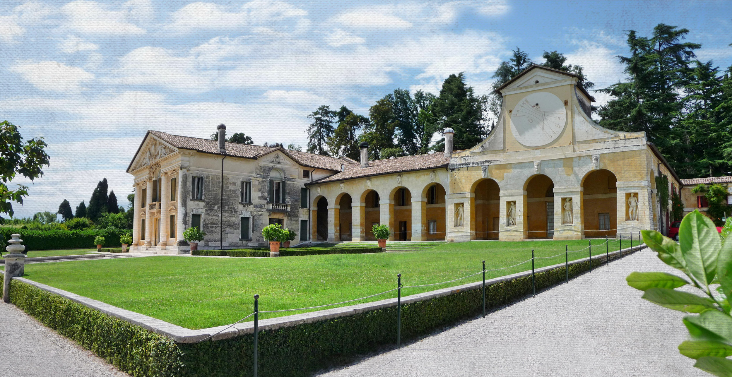 Author: Marcok. Villa Barbaro in Maser, province of Treviso, Italy, built by Andrea Palladio between 1554 and 1560 for the brothers Daniele and Marcantonio Barbaro.
