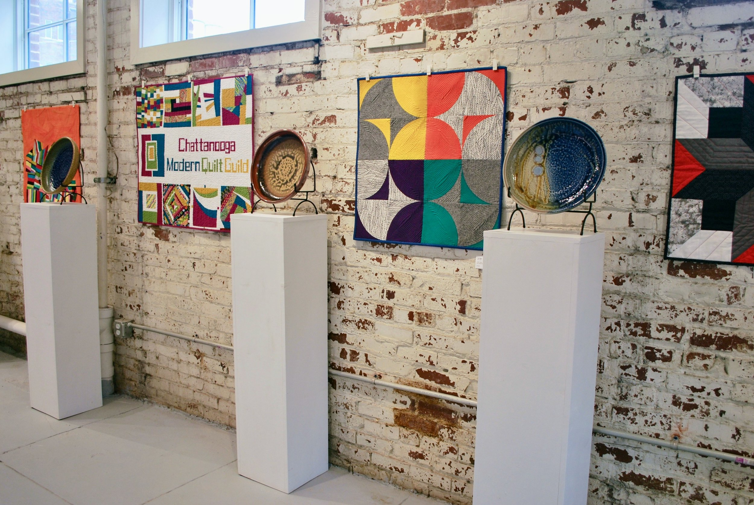 Quilts on view at Scenic City Clay Arts