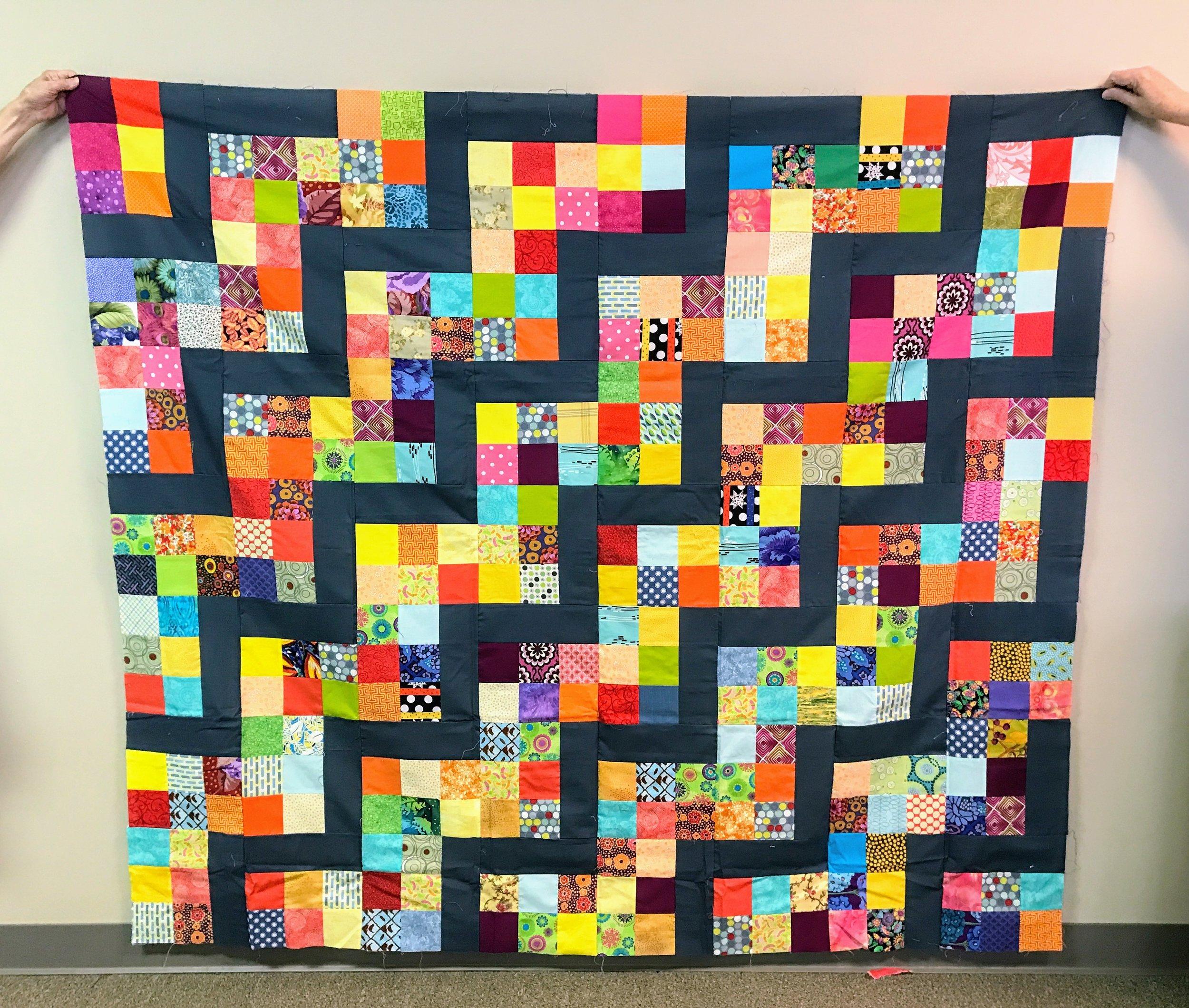 Habitat quilt top assembled by Martha Griffin
