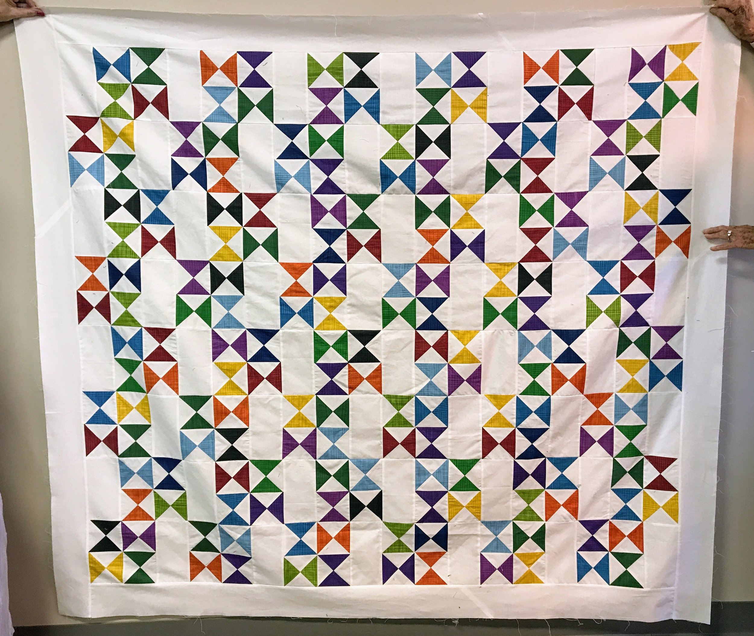 Gerry Haywood pieced this top for a Habitat for Humanity quilt