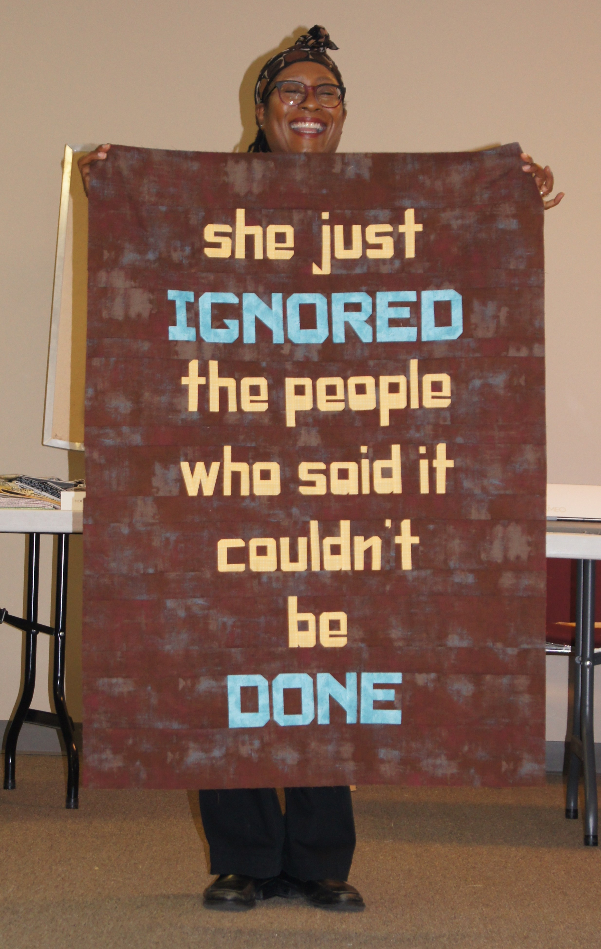 Carolyn Pugh's motivational quilt top