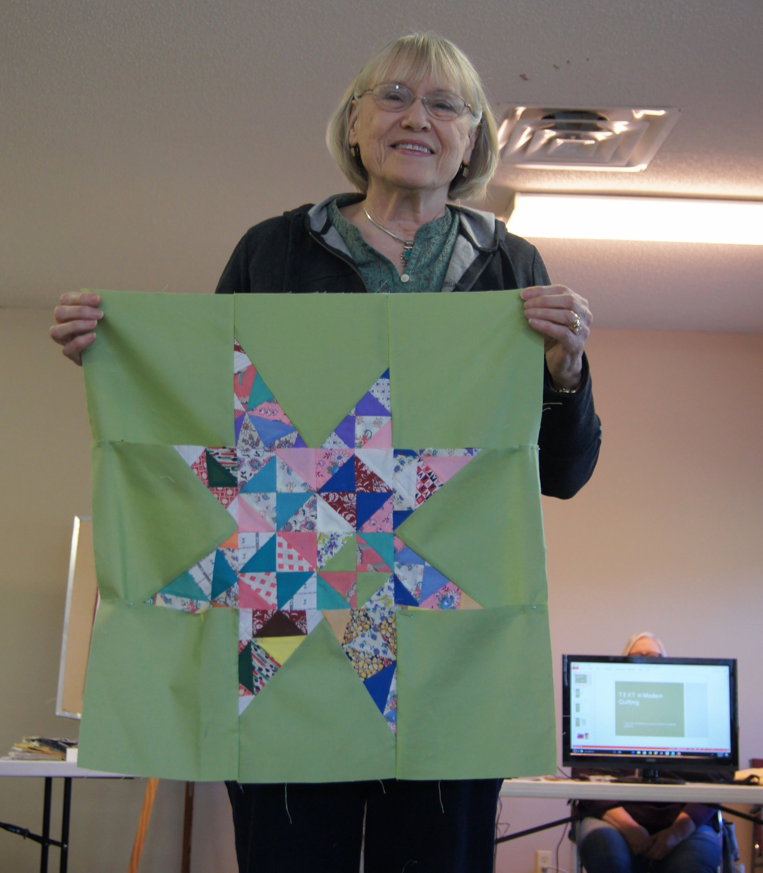 Vista Mahan's wonky star top from a Mary Kerr workshop