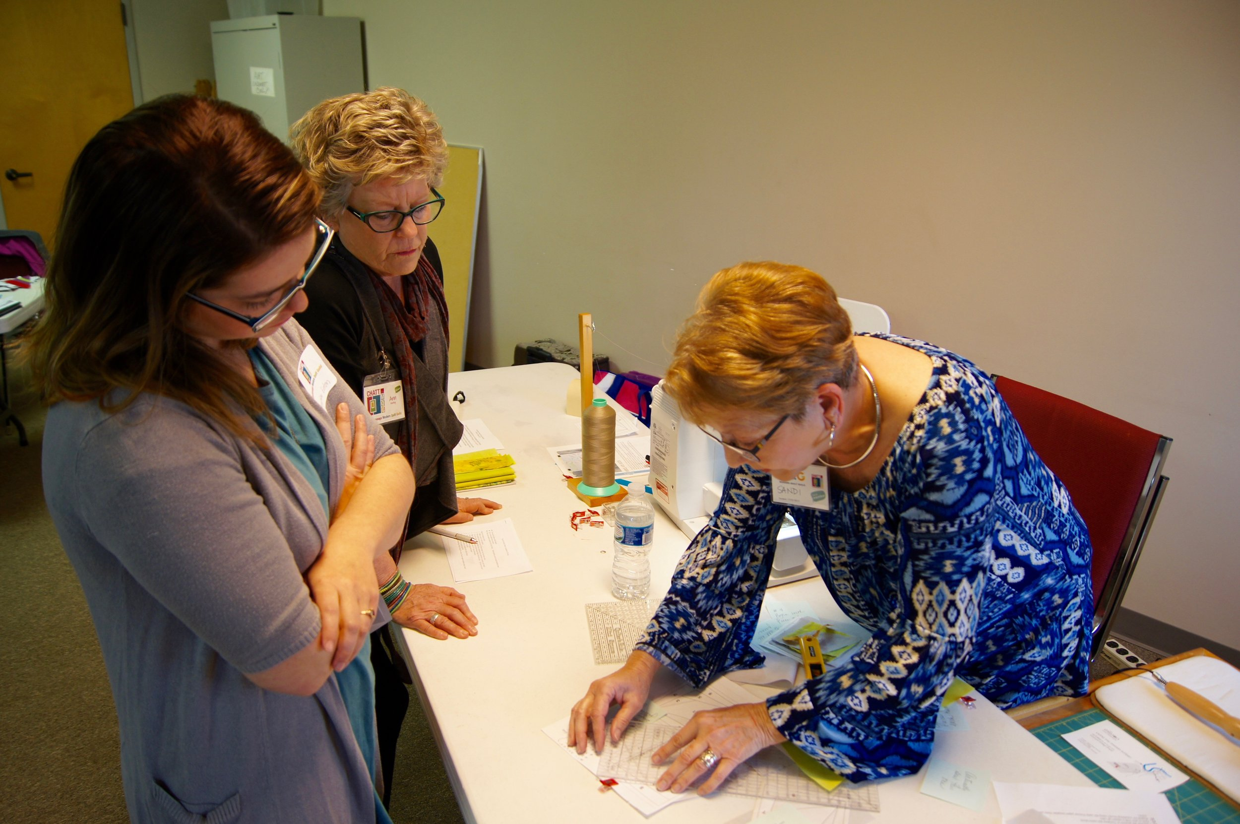 Sandi Suggs demonstrates her process with freezer paper
