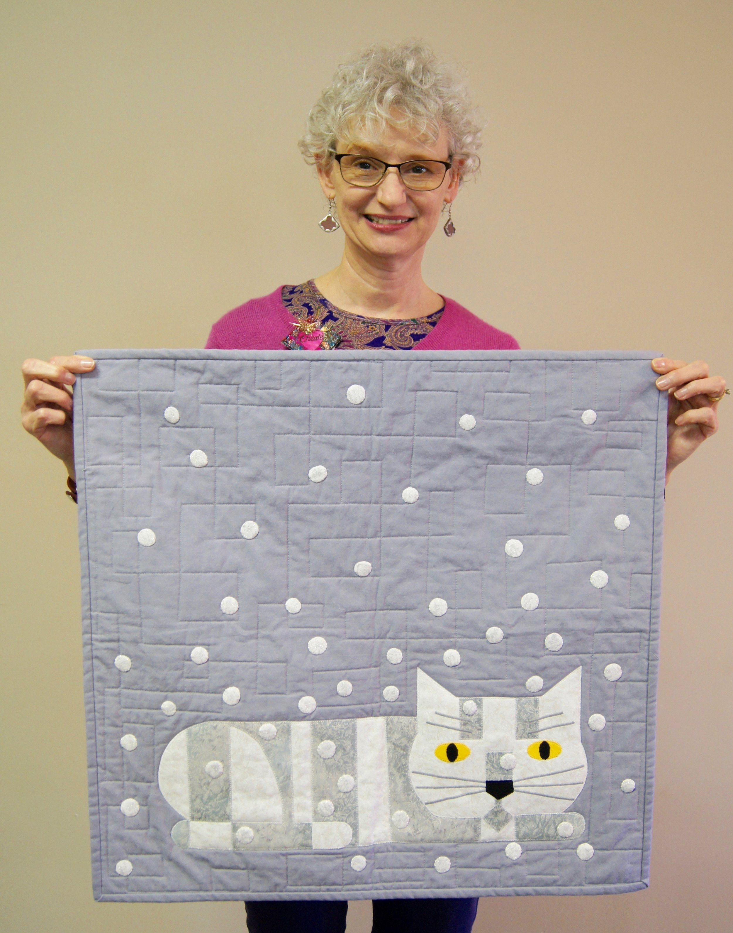 """Denise Ohlman and her """"Winter Watcher"""" mini"""