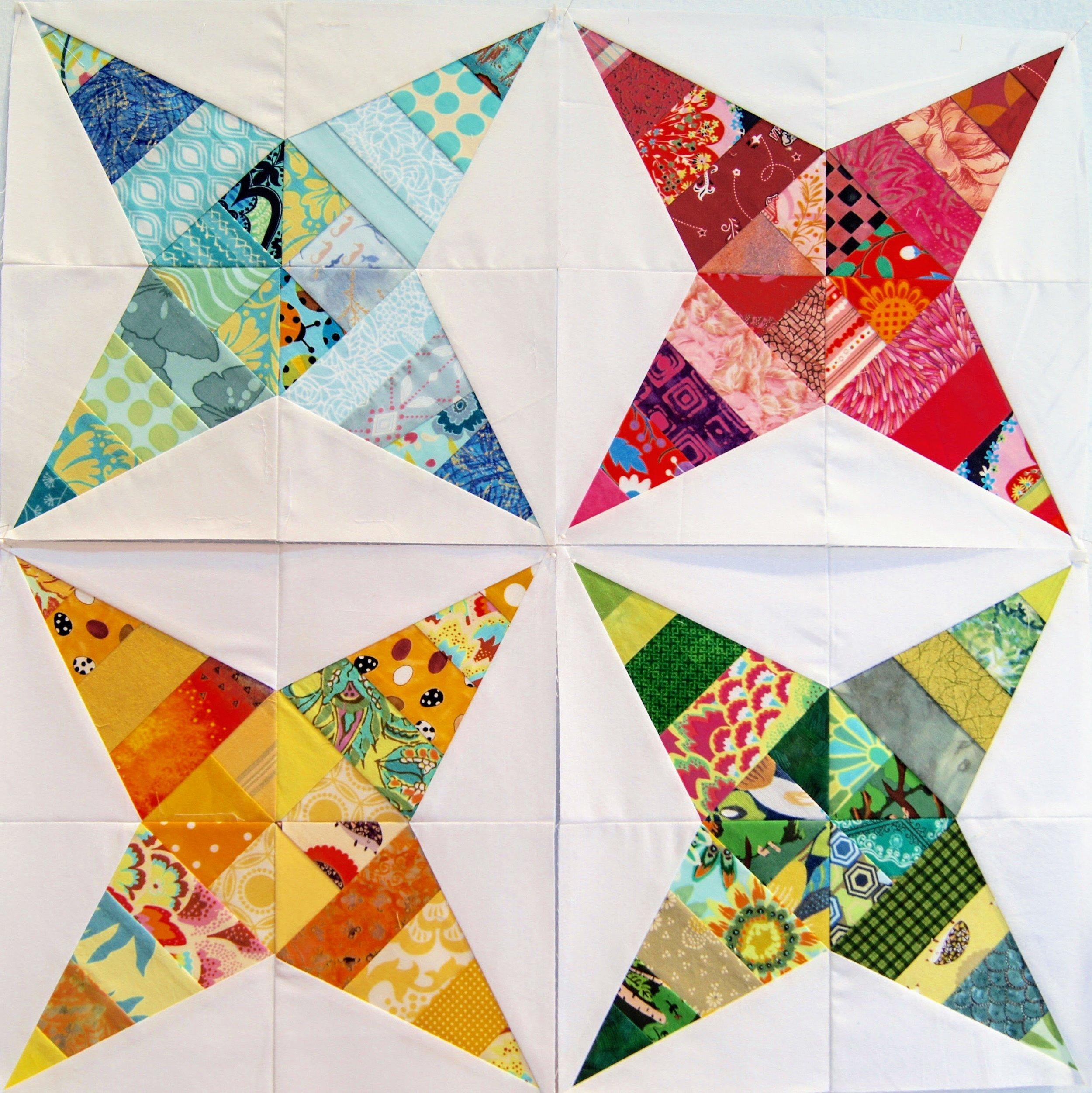 Audrey Workman's paper-pieced star blocks