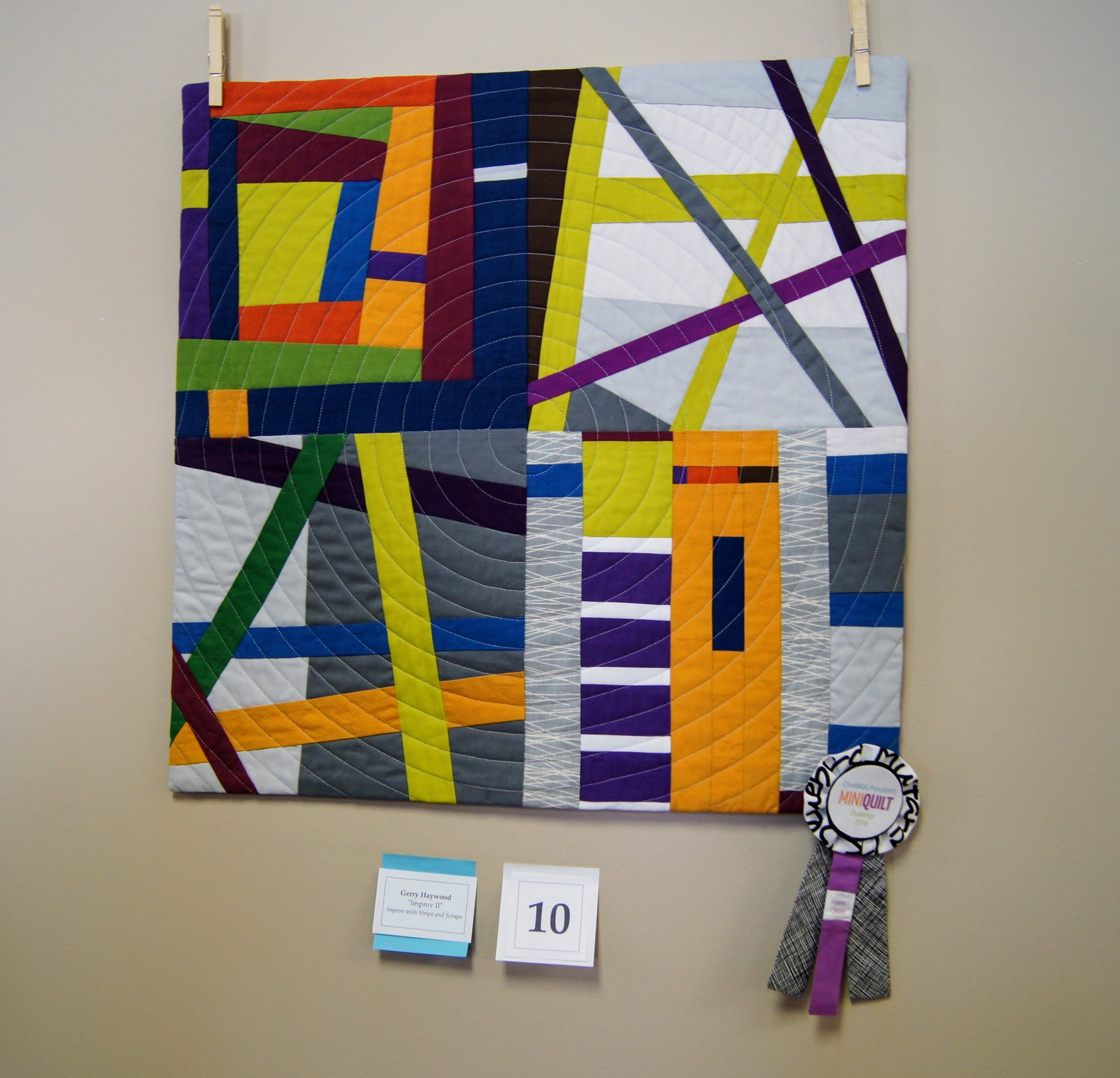 2nd place quilt by Gerry Haywood