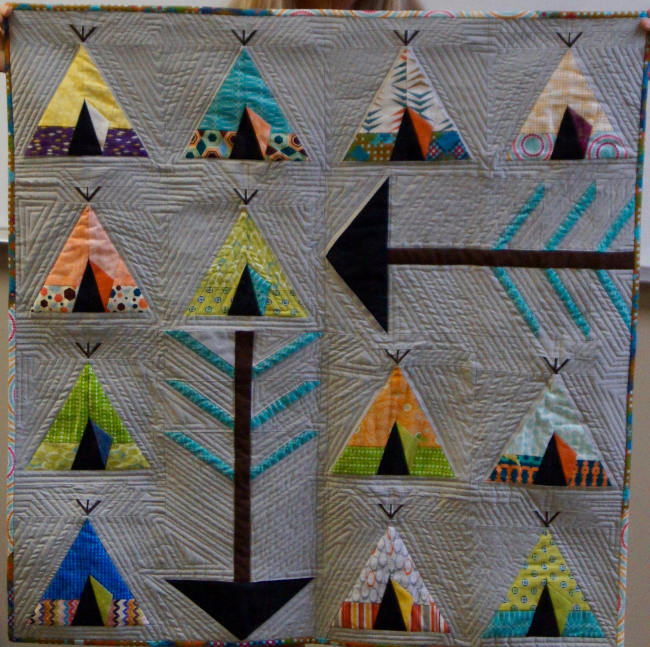 Teepee quilt by Nancy Packard
