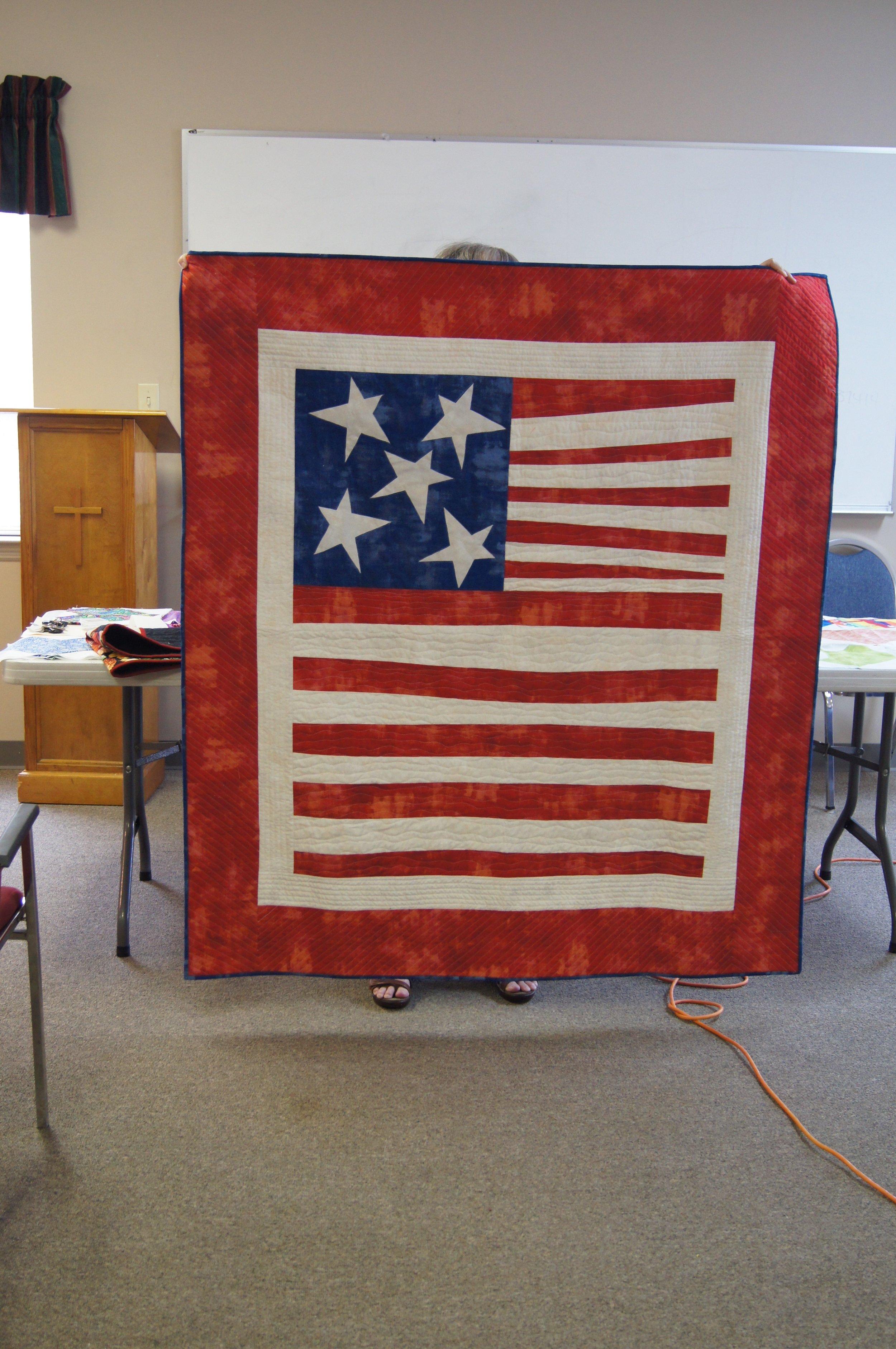 Improv flag by Patricia Steadman