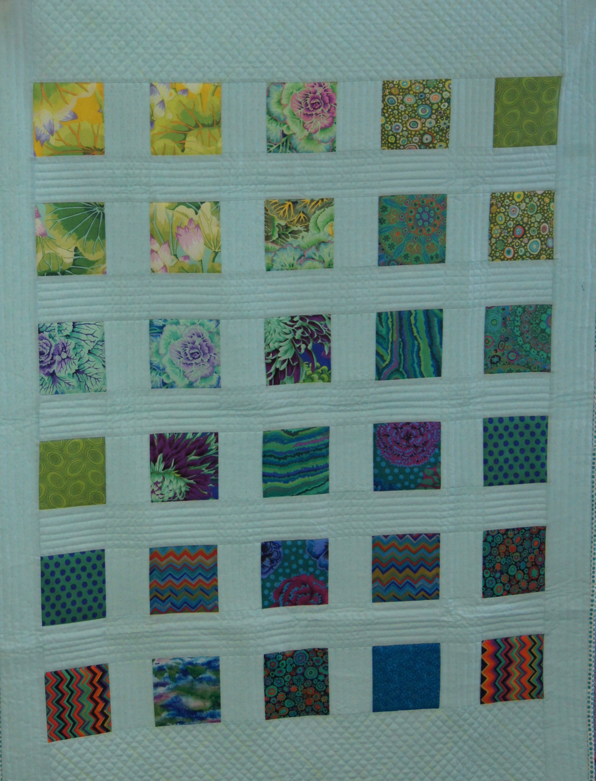 Theresa Kitchell's cool Kaffe squares