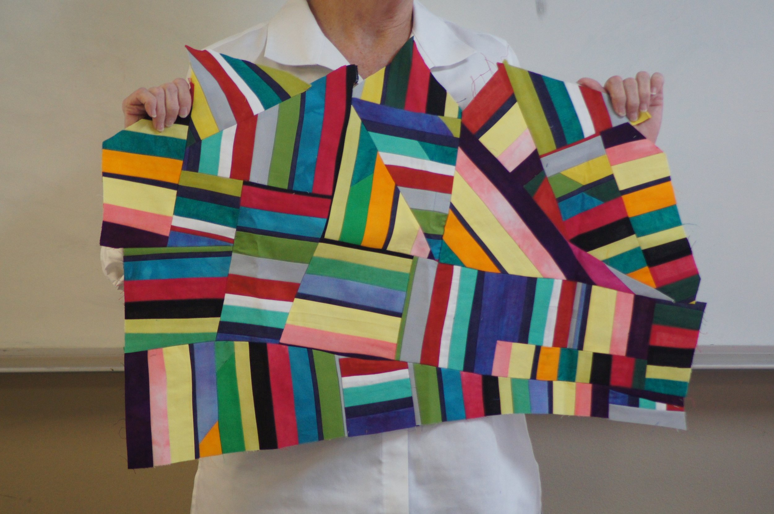 Improvised strips by Mary Keasler