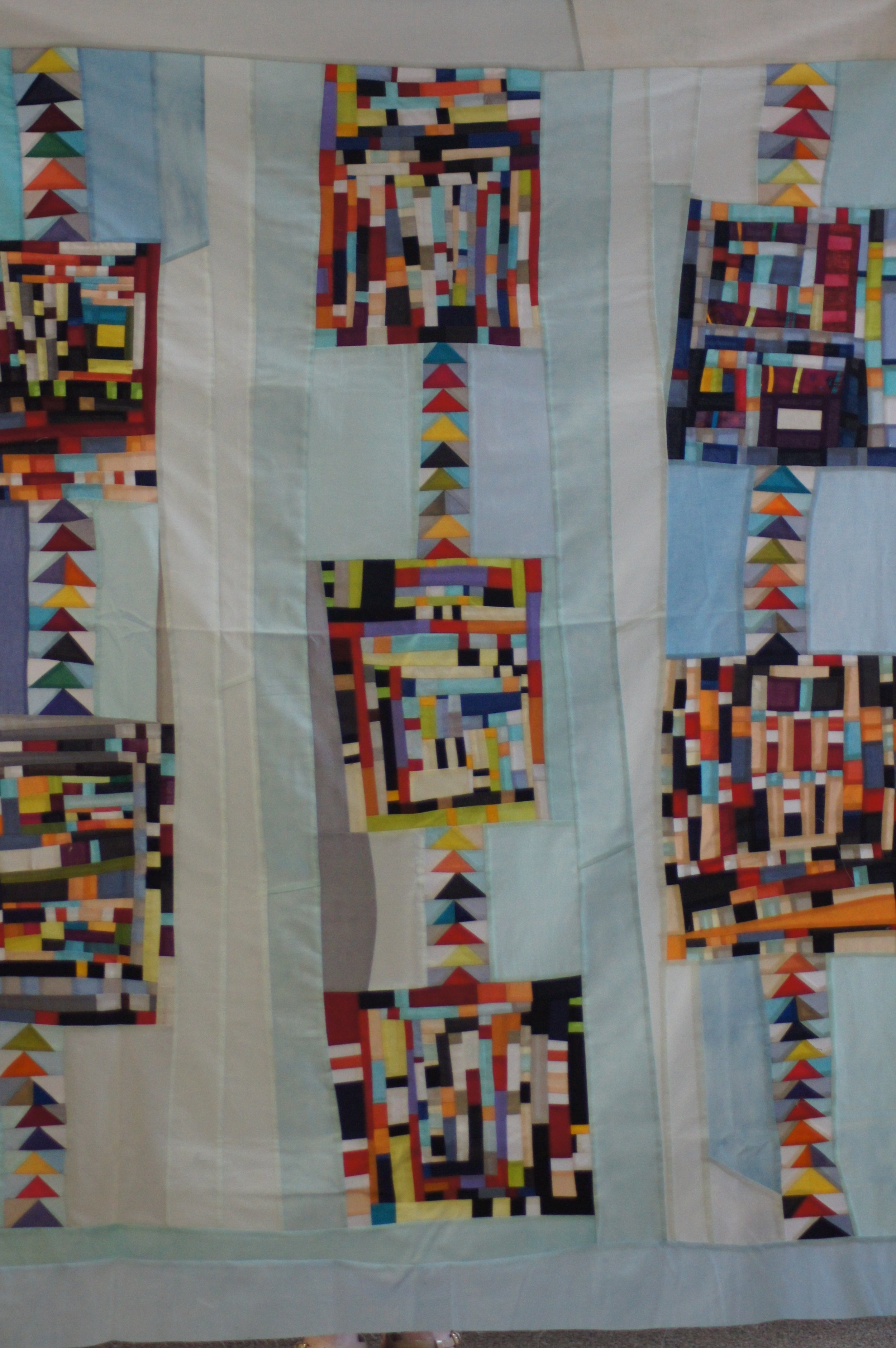 Quilt top by Mary Keasler