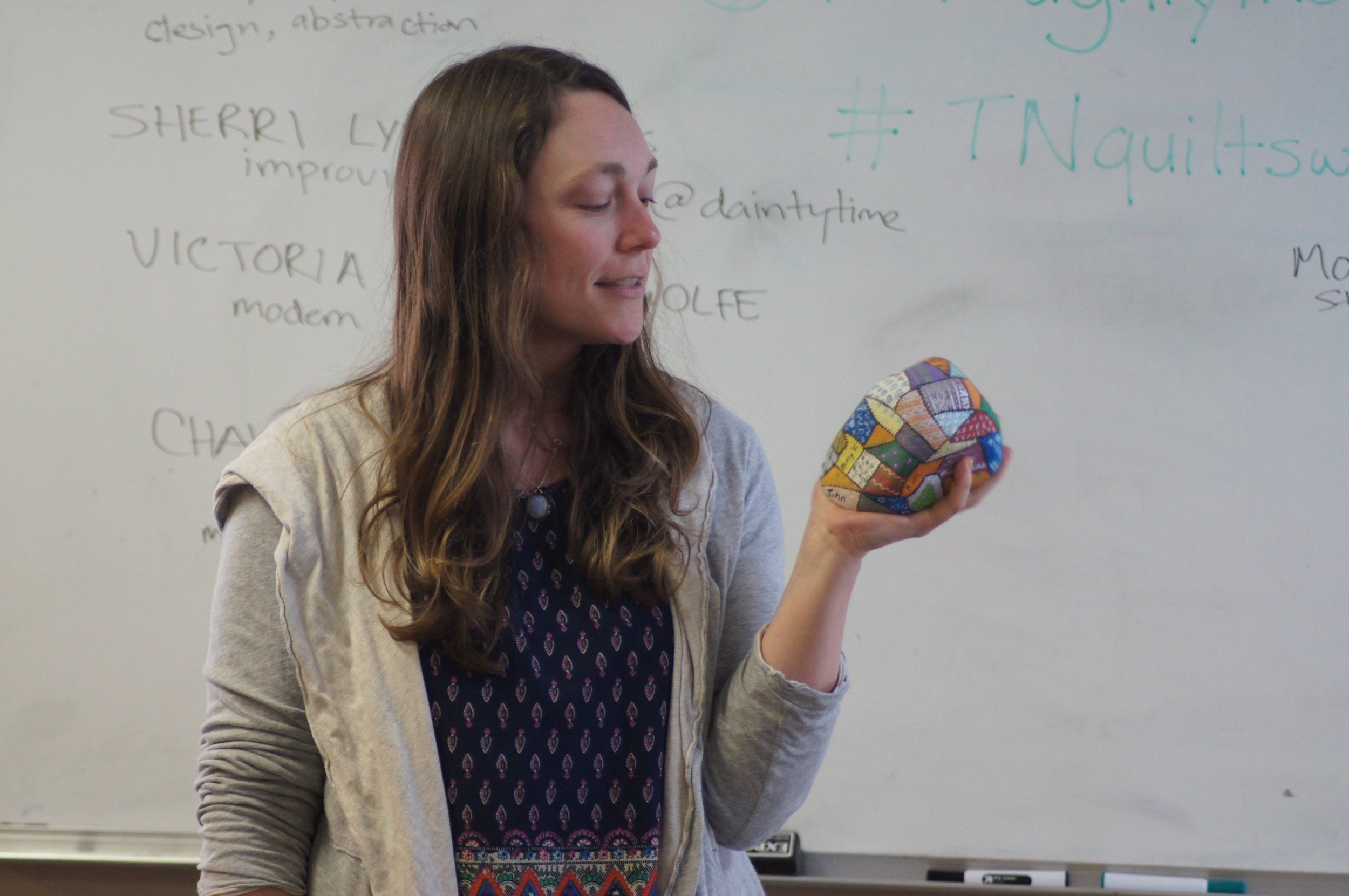 Bethany Barnes and her quilty rock