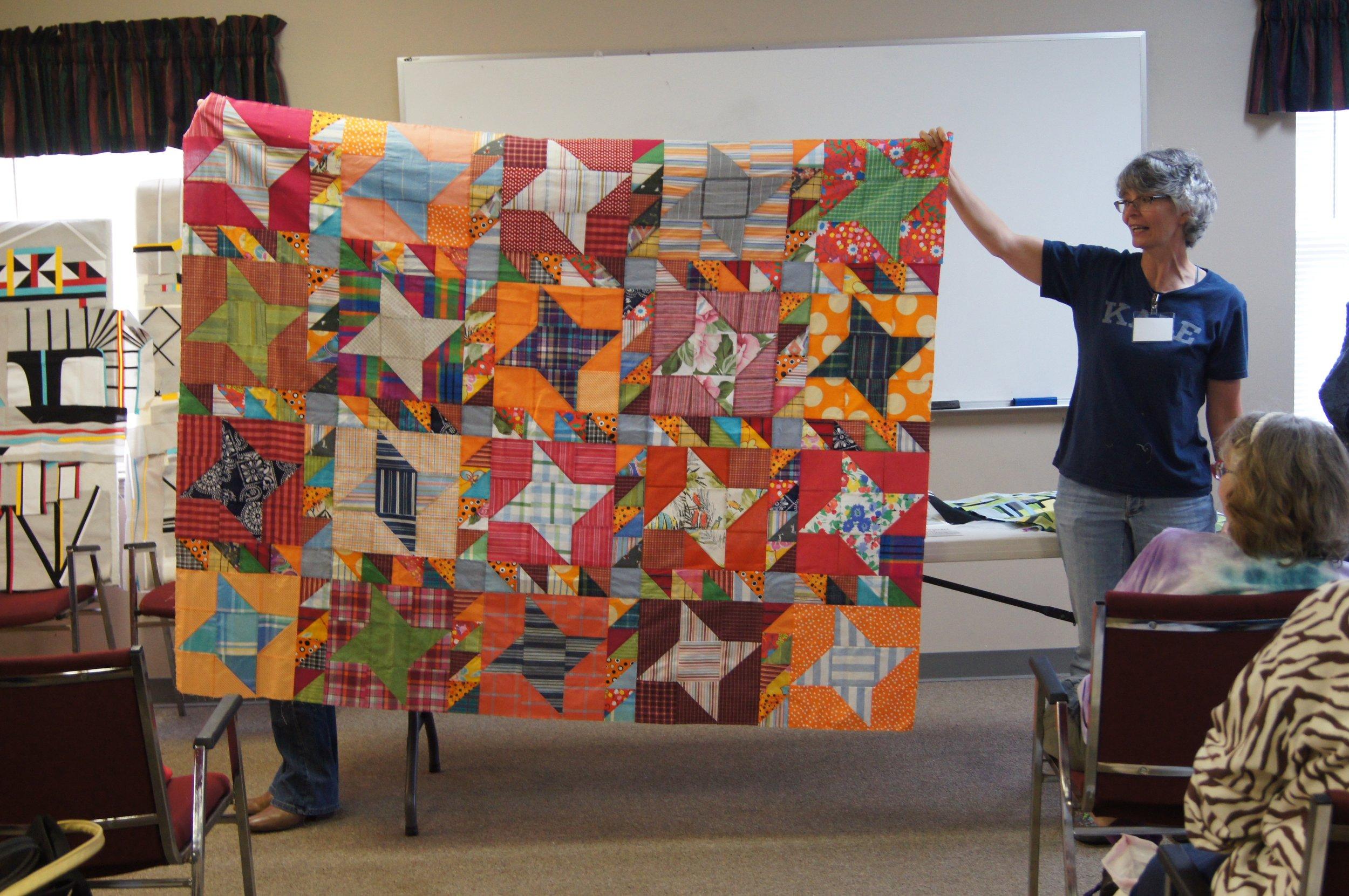 Quilt top by Audrey Workman