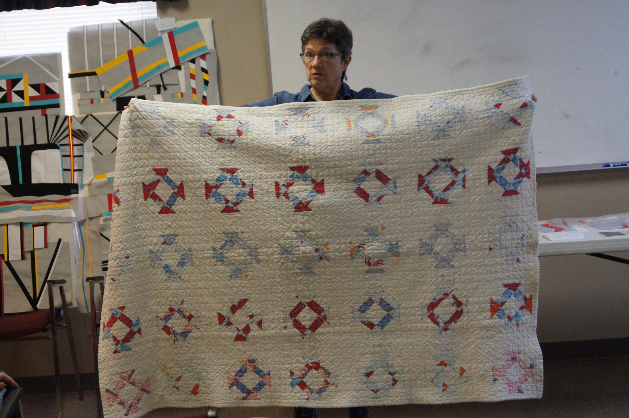 Mary Keasler's antique quilt