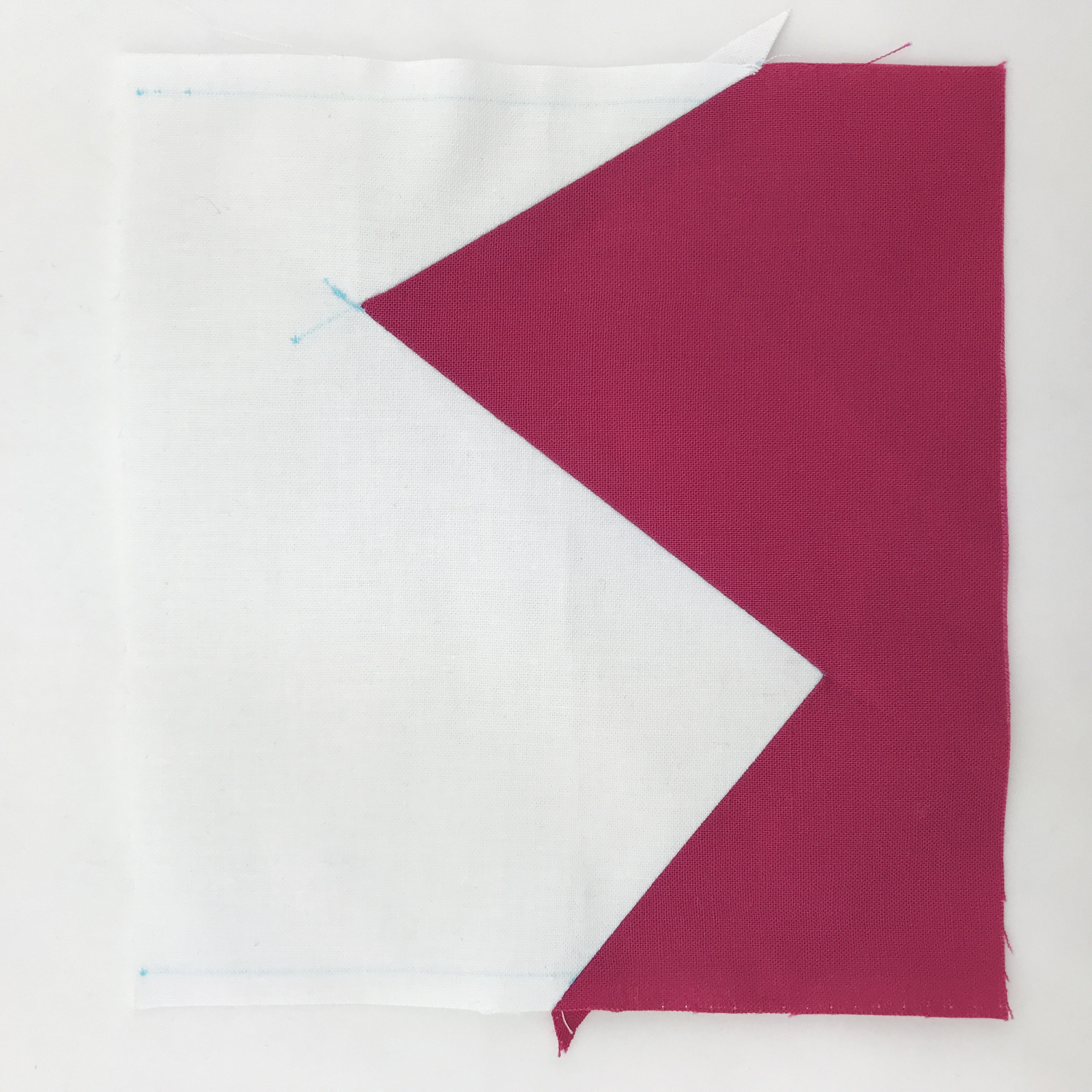 A completed Z seam