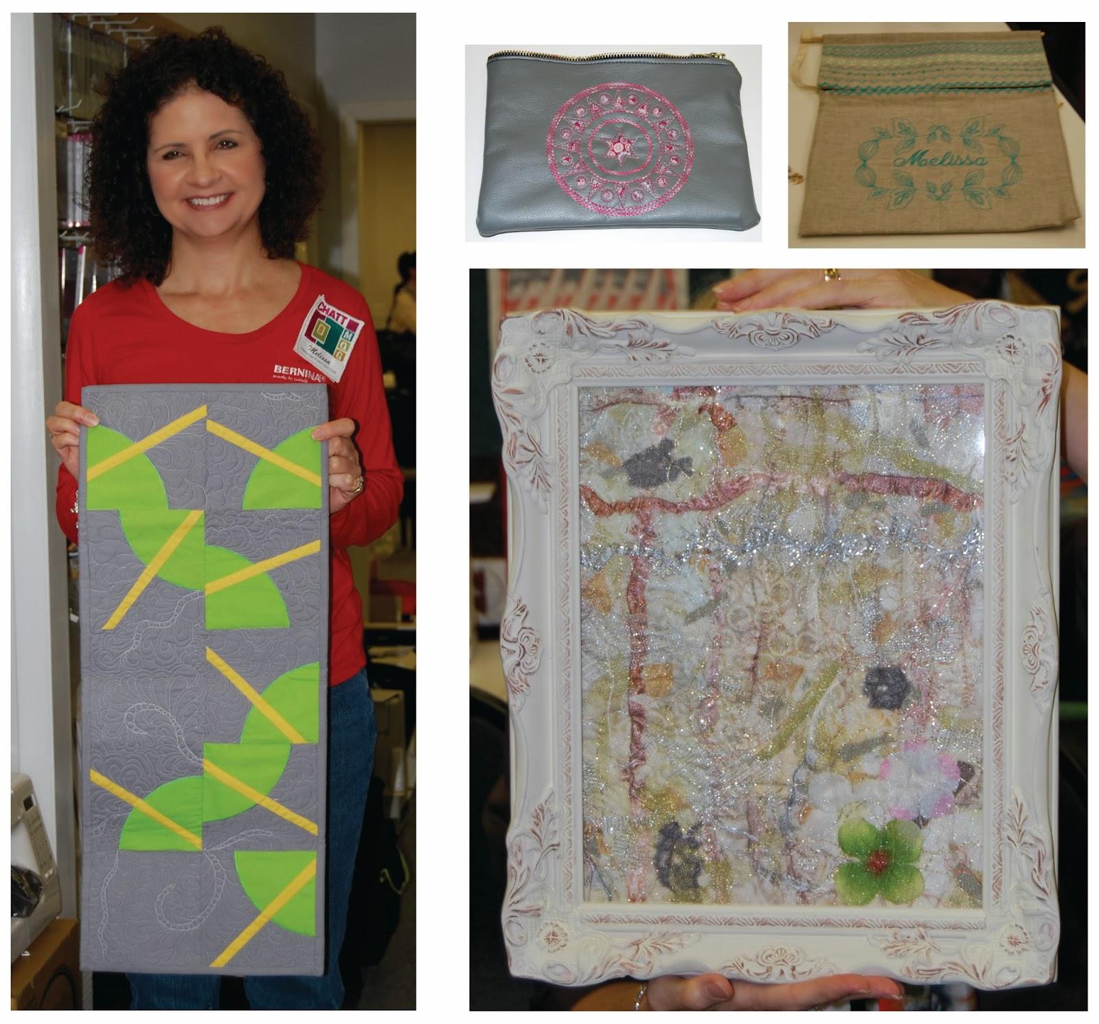 Melissa shared her experience at Bernina University 2013.