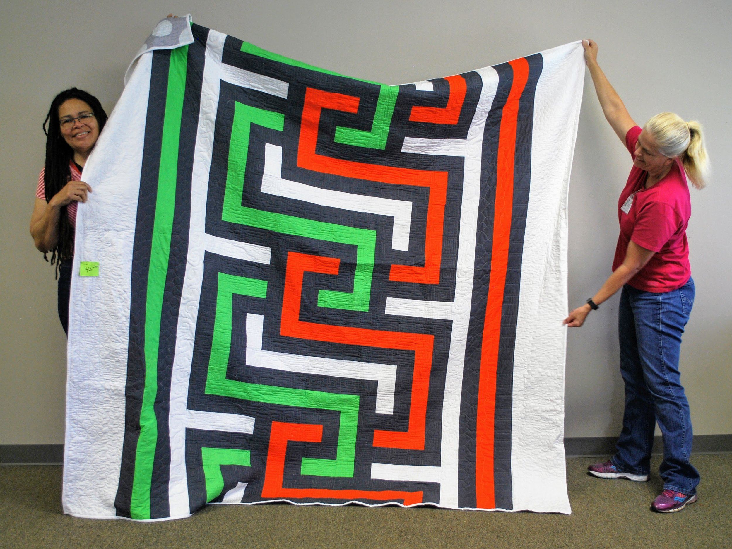 Quilt by Vanessa King (left)