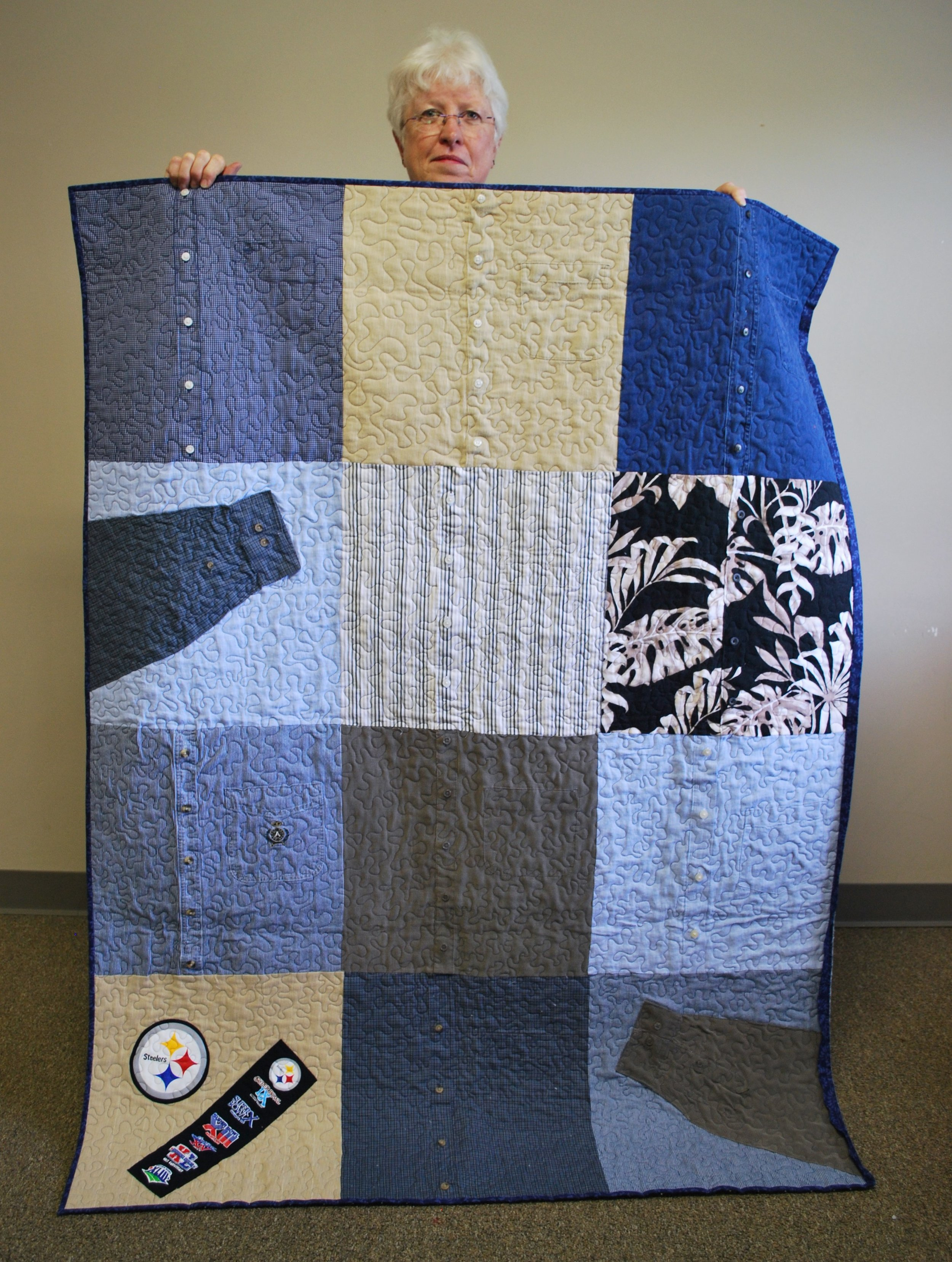 Memory quilt by Martha Steele