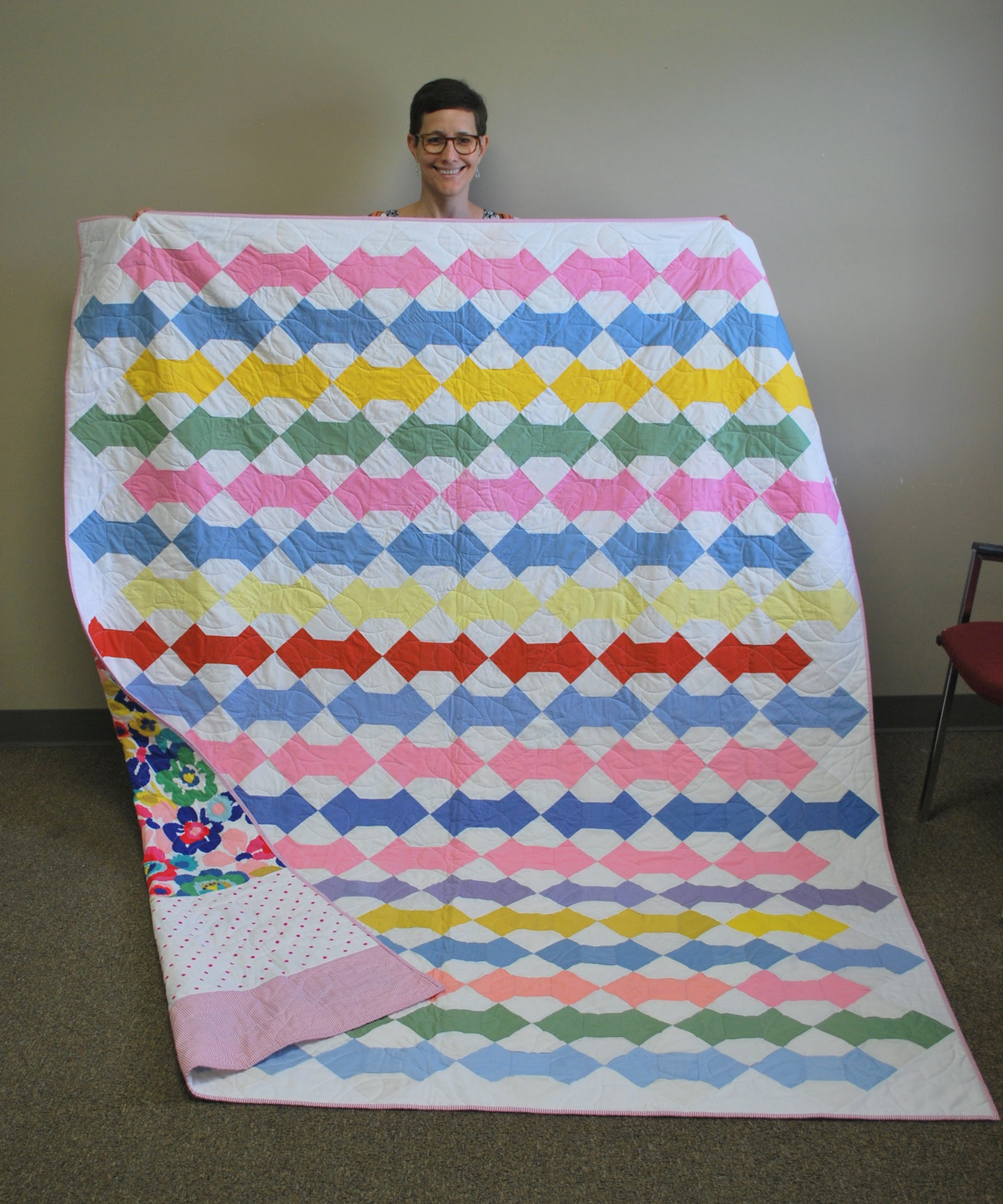 Vintage quilt finished by Kelly Spell