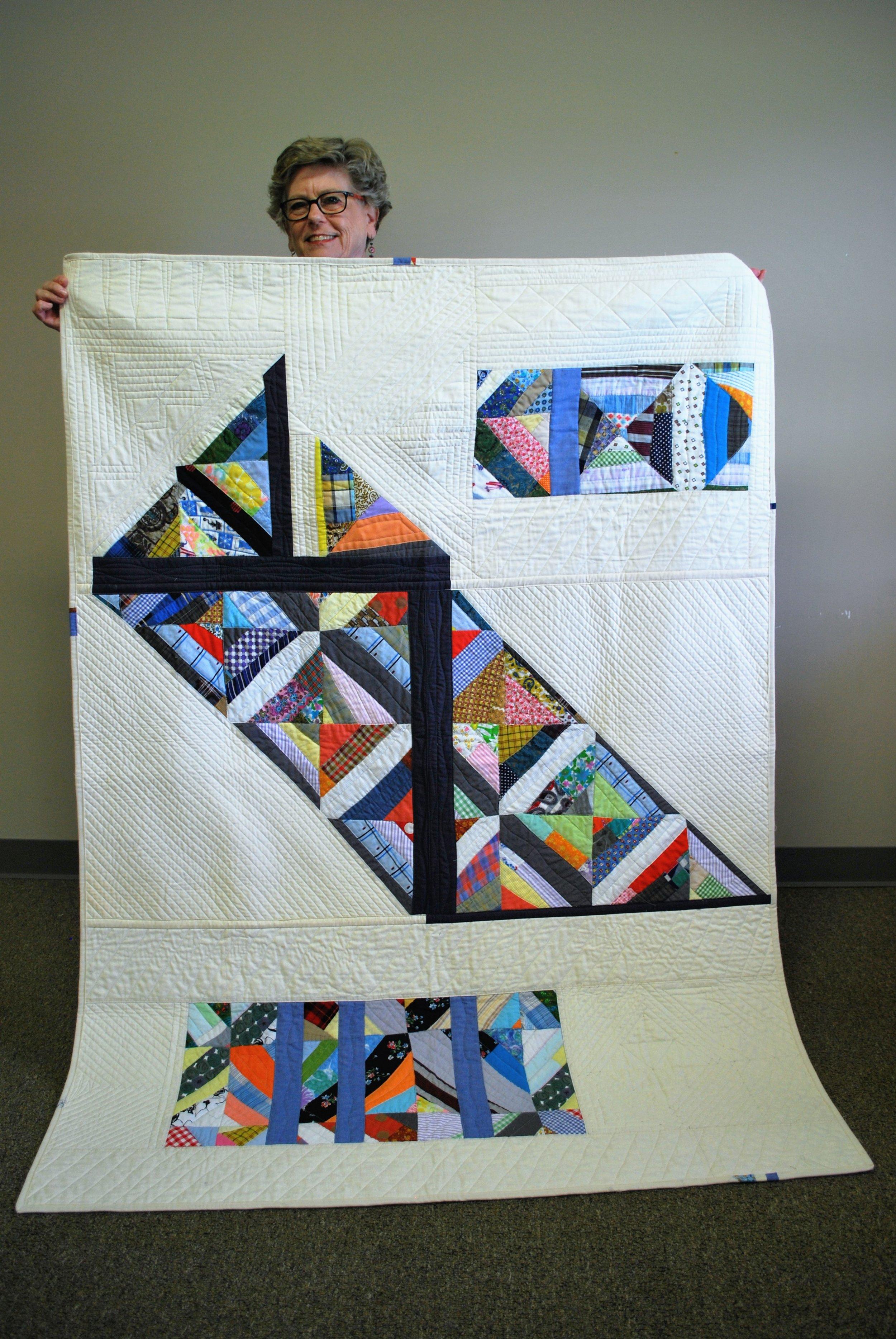 Ann Hurley's Cut It Up! Challenge quilt