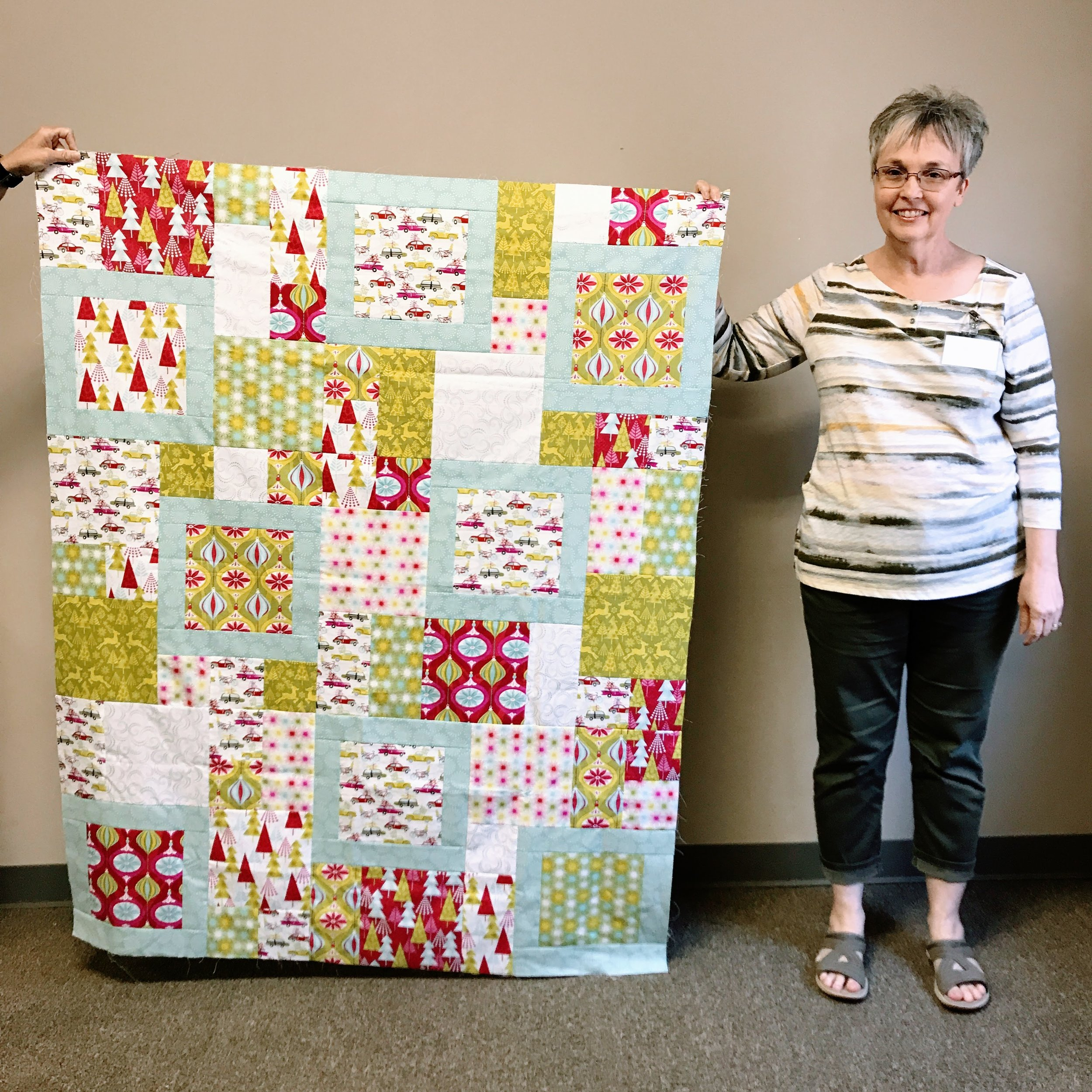 Quilt top by Patricia Steadman