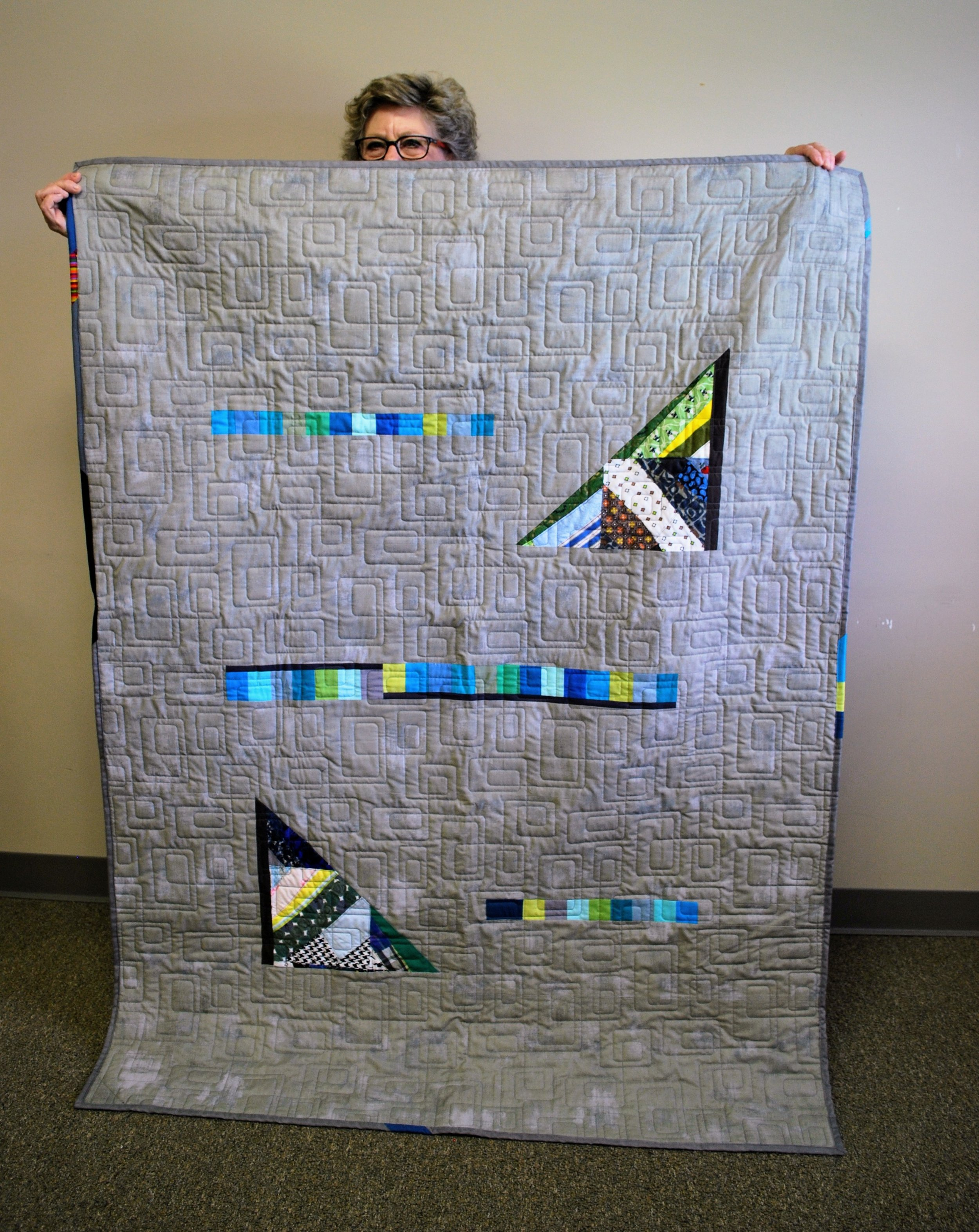 Improv quilt by Ann Hurley