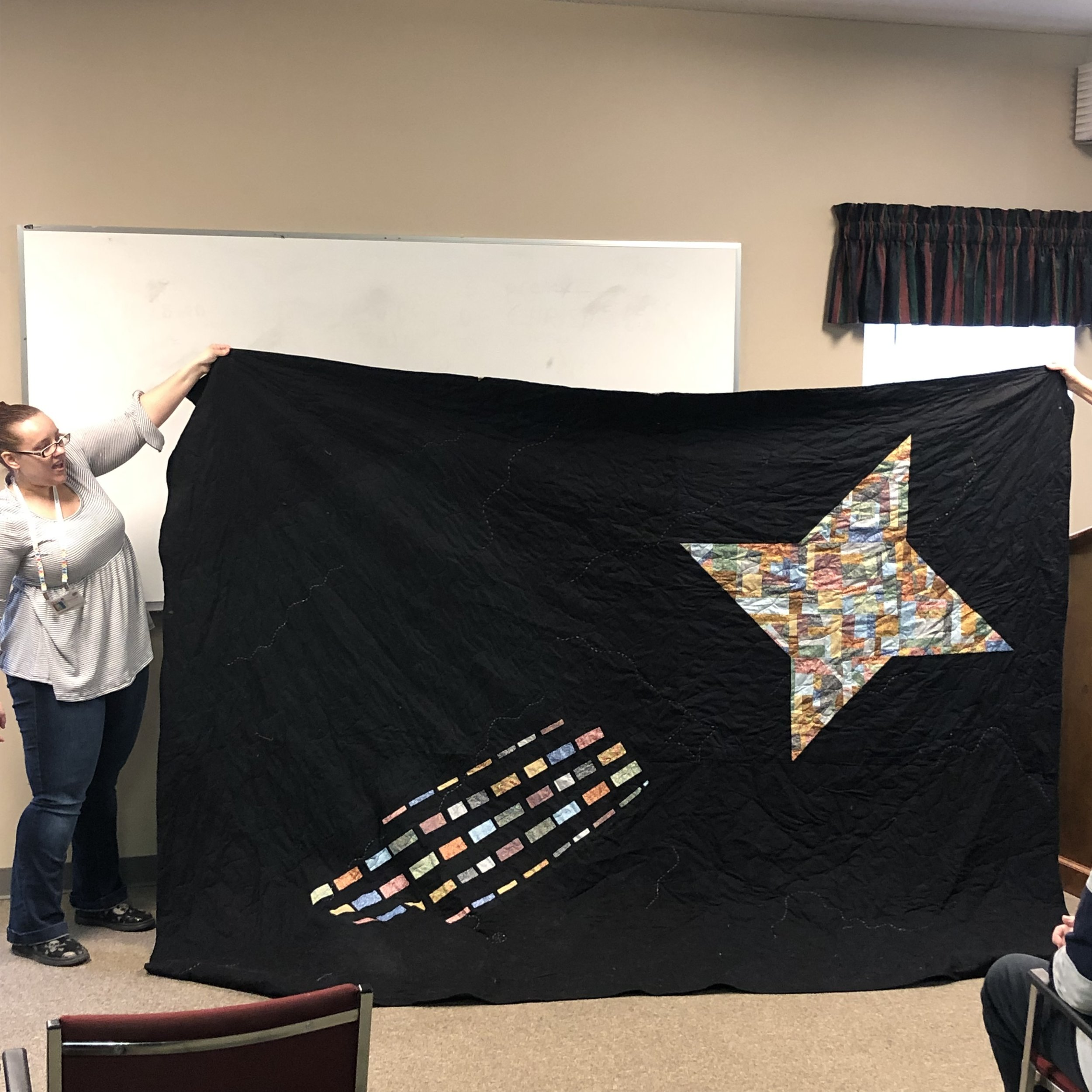 Stephanie's Star Quilt (back)