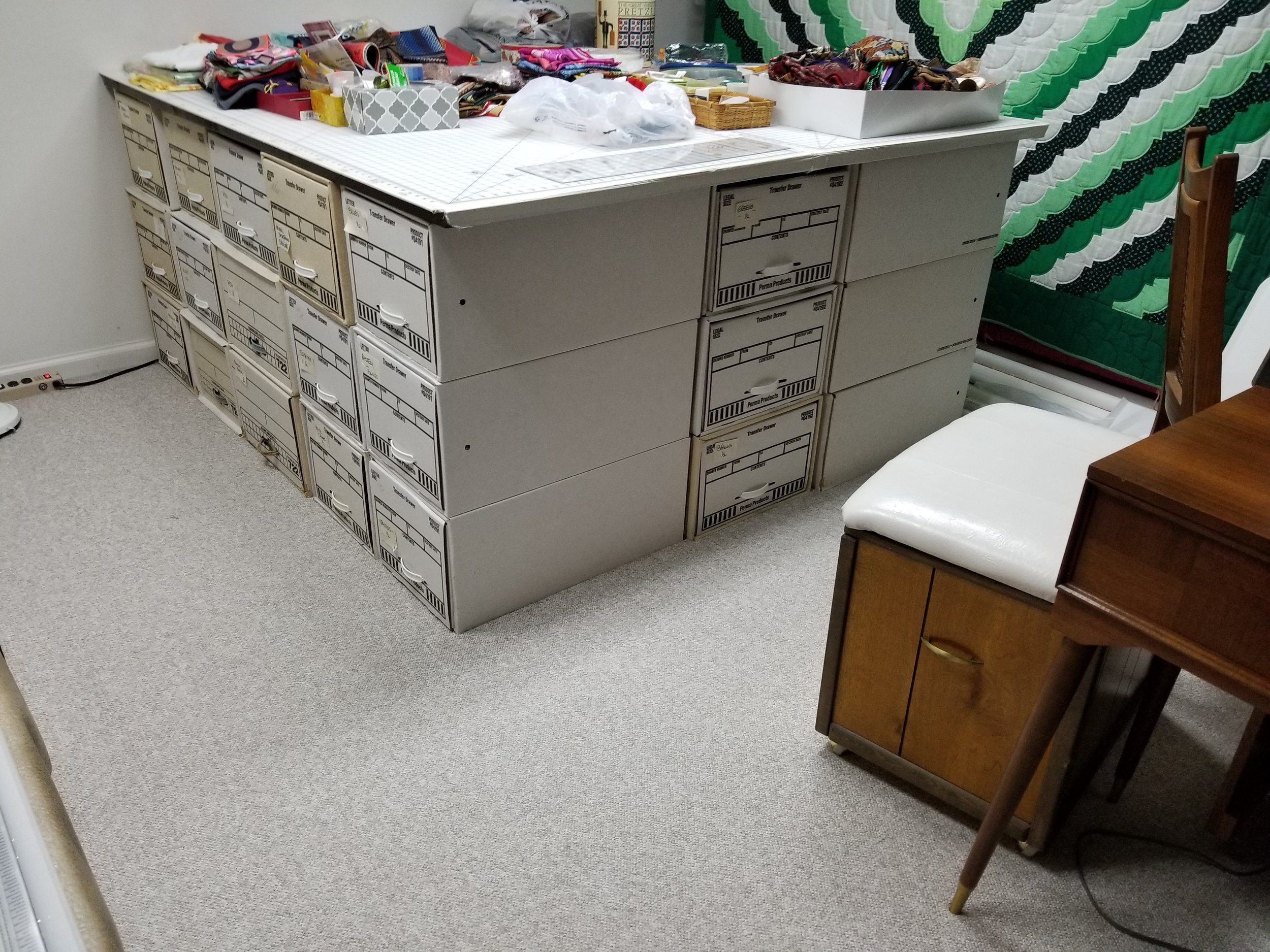 File Box Storage/Cutting Table