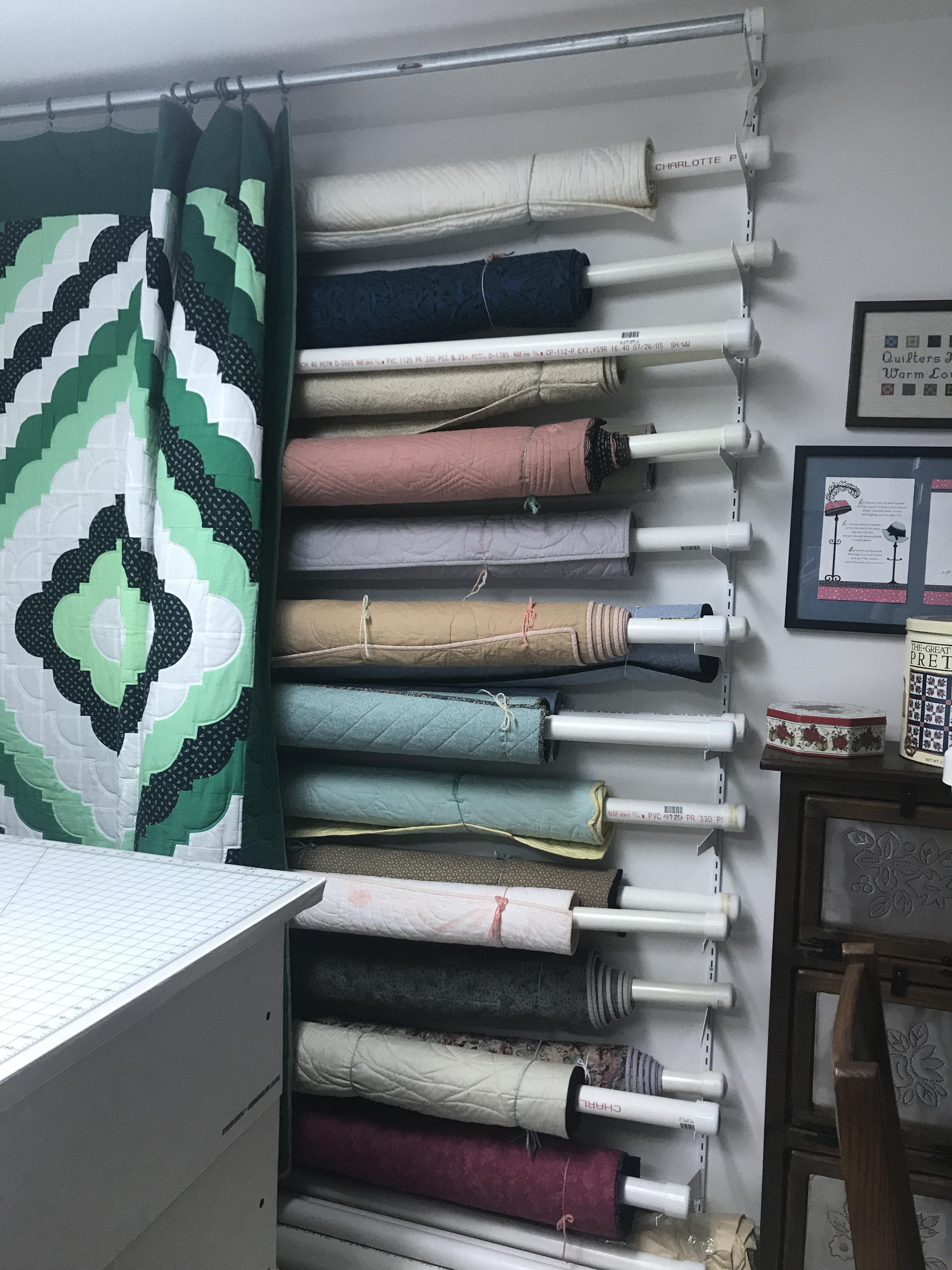 PVC Quilt Storage Wall